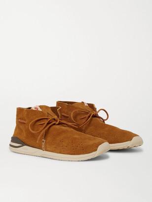Visvim Huron Moc-Folk Beaded Suede Boots