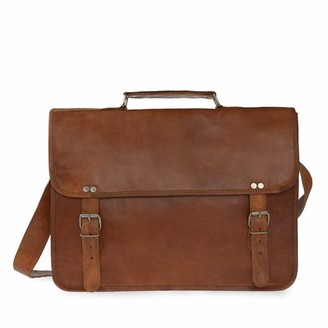 Vida Vida Vida Vintage Classic Leather Laptop Bag 15 Inch