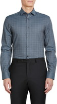 John Varvatos Regular Fit Stretch Plaid Dress Shirt
