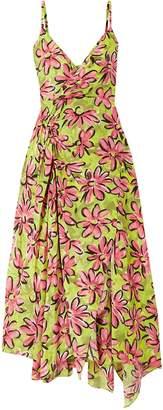 Michael Kors Wrap-effect Floral-print Silk Crepe De Chine Midi Slip Dress