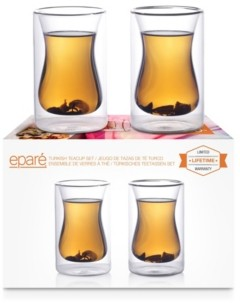 Epare 6 Oz Double-Wall Turkish Tea Cup- Set of 2
