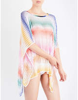 Missoni Chevron crochet-knit poncho