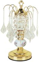 ORE International 15 in. Ceramic Gold Touch Accent Lamp