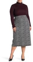 14th & Union Ponte Knit Pencil Midi Skirt (Plus Size)