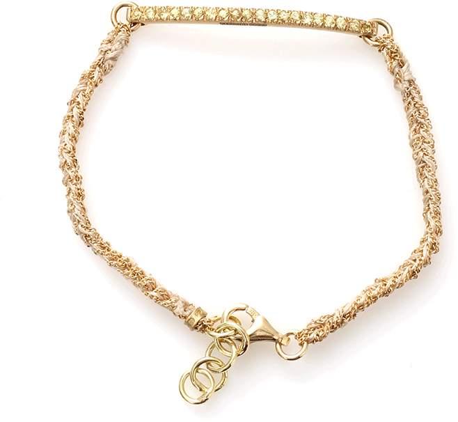 Carolina Bucci Kaleidoscope Bracelet With Sapphire Pave