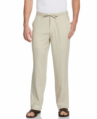 "Cubavera 32"" Inseam Single Pocket Drawstring Linen Pant"