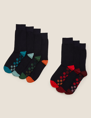 Marks and Spencer 7 Pack Cool & Fresh Dot Sole Socks