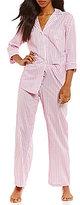 Lauren Ralph Lauren Petite Striped Lawn Classic Pajamas