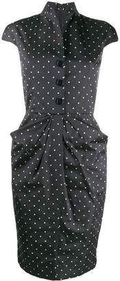 Christian Dior Pre-Owned 2000s polka dotted fitted dress