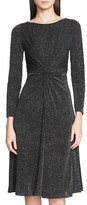 Armani Collezioni Women's Long Sleeve Glitter Jersey Dress