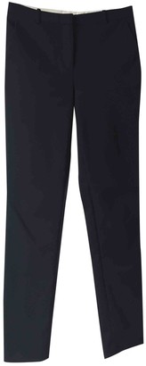 Whistles Navy Cotton Trousers for Women