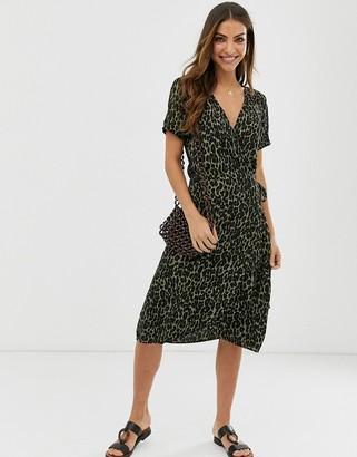 B.young leopard print dress-Multi