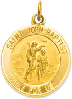 Macy's 14k Gold Charm, Saint John Baptist Medal Charm