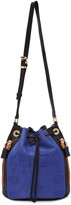 Kenzo Blue and Black Kombo Bucket Bag