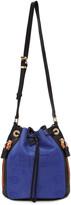 Kenzo Blue & Black Kombo Bucket Bag