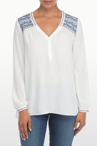 NYDJ Embroidered Top In Petite