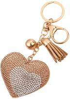 MagiDeal Bag Keychain Crystal Key Ring Charm Car Pendants