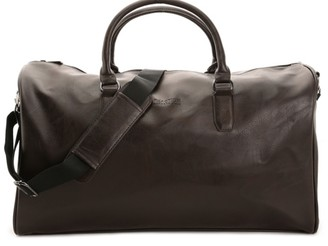 Kenneth Cole Reaction I'm Duffed Leather Weekender Bag