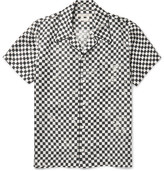 Marc Jacobs Camp-collar Printed Silk-twill Shirt