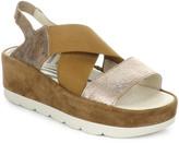 Fly London Bime Leather Wedge Sandal