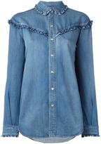 Saint Laurent classic ruffled Western shirt - women - Cotton - XS
