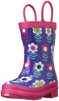 Hatley Nordic Flowers Rain Boot (Inf/Yth) - Purple - 8 Toddler