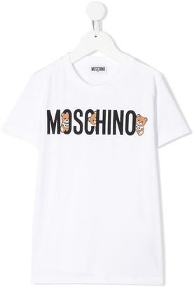 MOSCHINO BAMBINO logo-print cotton T-shirt