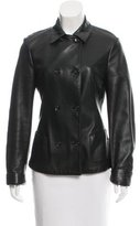 Jil Sander Double-Breasted Leather Jacket