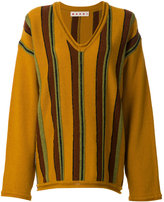 Marni oversized striped sweater - women - Virgin Wool - 40