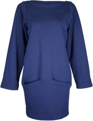 Format DEAR Dark Blue Sweat Dress - S - Blue