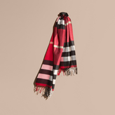 Burberry Oversize Check Cashmere Scarf