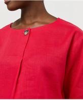 Monsoon Scarlet 100% Linen T-Shirt - Pink