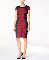 Sangria Colorblocked Sheath Dress
