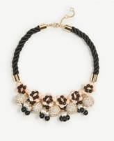 Ann Taylor Rope Fireball Necklace