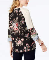 Style&Co. Style & Co Mixed-Print Top, Created for Macy's
