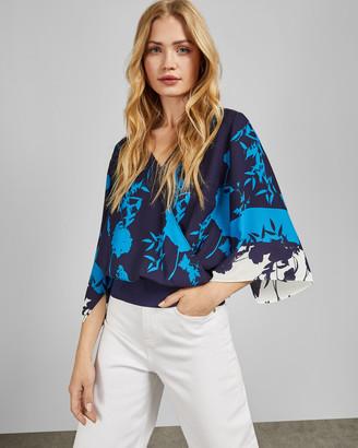 Ted Baker MARGIEL Bluebell kimono sleeve wrap top
