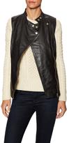 Violet Leather Zip Vest