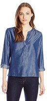 Calvin Klein Jeans Women's Cotton Tencel Long Sleeve Sport Popover