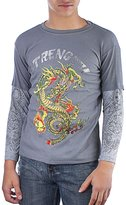 Ed Hardy Kids Snake Thermal Long Sleeve T-Shirt -Grey