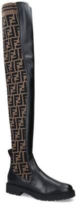Fendi Fun Furs Stretch Boots