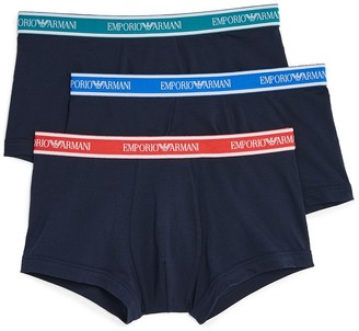 Emporio Armani 3 Pack Logo Band Trunks