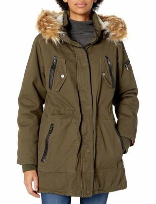 Steve Madden Women's Anaorak with Detachable Faux Fur Liner