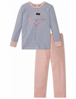 Schiesser Girls' Cat Zoe Md Anzug Lang Pyjama Sets