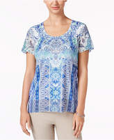 JM Collection Printed Studded Top, Created for Macy's