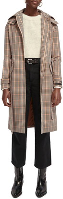 Scotch & Soda Check Trench Coat