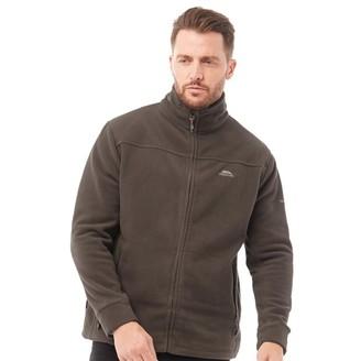 Trespass Mens Bernal Full Zip Fleece Jacket Khaki