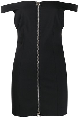 DSQUARED2 Off-The-Shoulder Fitted Mini Dress