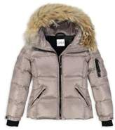 SAM. Girl's Blake Fur-Trim Puffer Coat