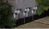 Living Stainless Steel Solar Lights - Set of 6