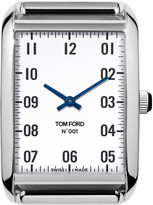 Tom Ford Timepieces Polished Stainless Steel Case, White Dial, Large